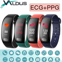 Valdus B51 Smart Bracelet Wristband ECG Heart Rate Detection Blood Pressure Fitness Tracker Smartband For Android IOS Smartphone
