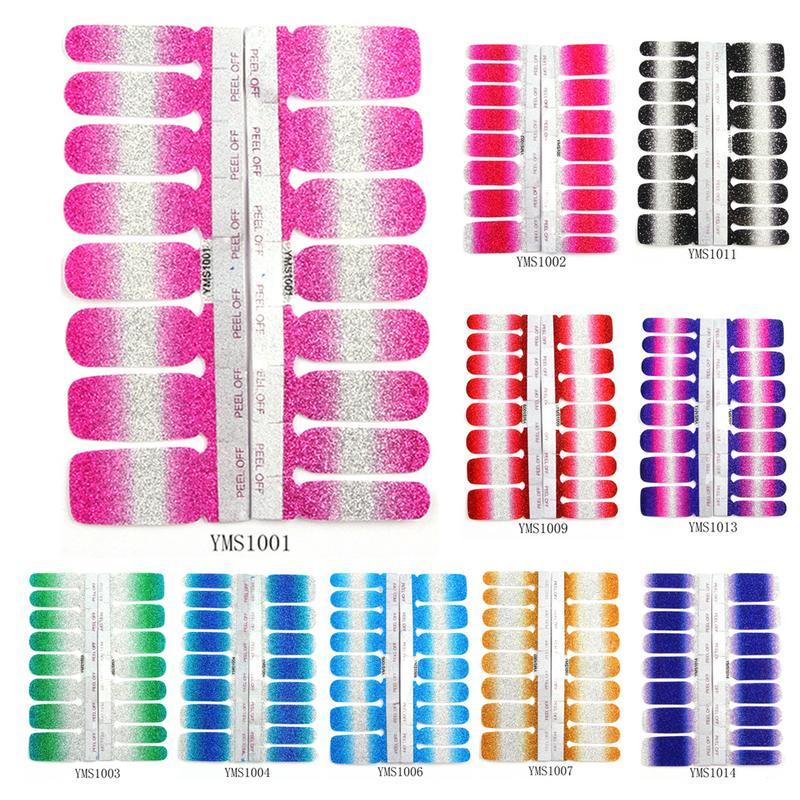 fashion glitter diy nail sticker