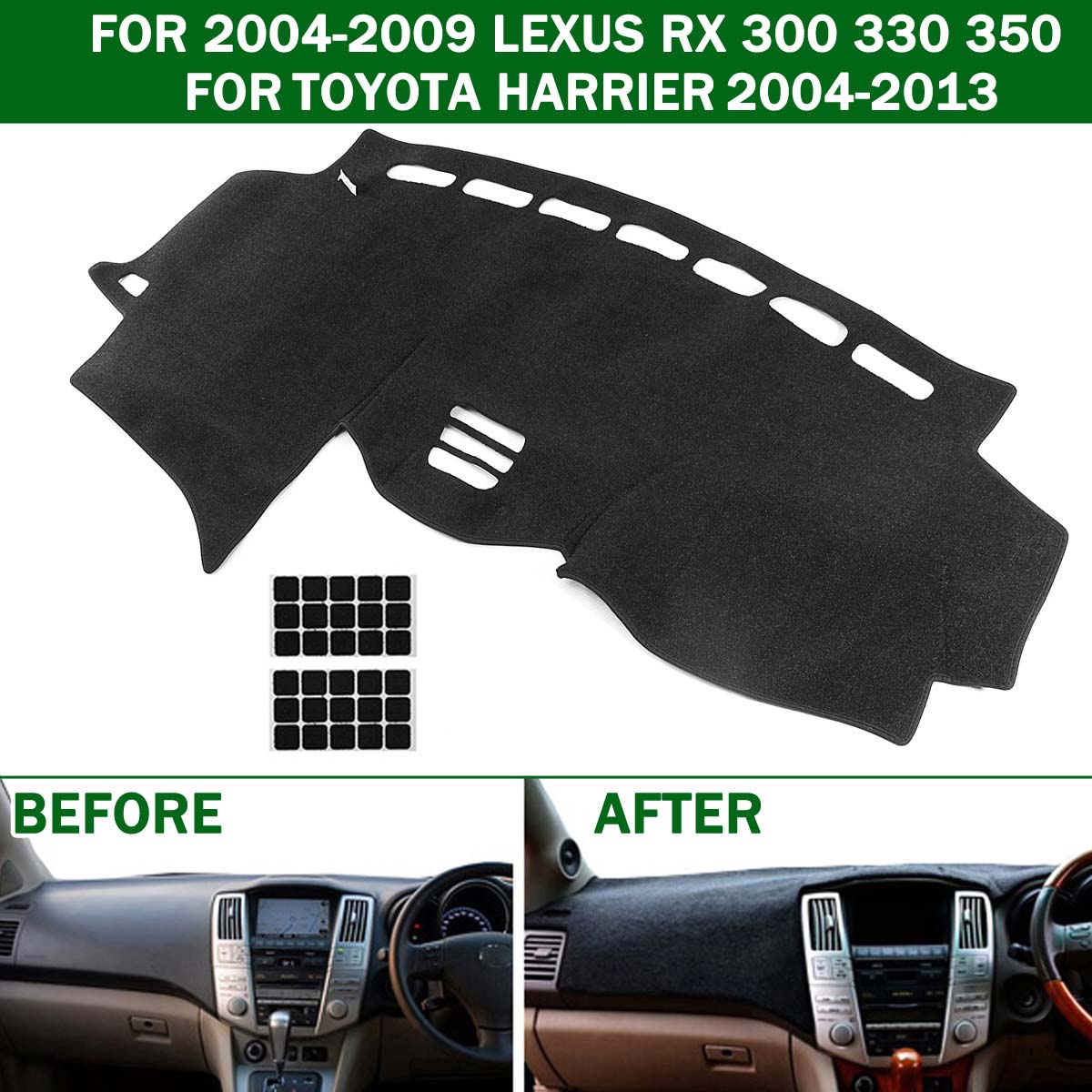 1x Car Dashboard Mat Dashmat Tampa Do Painel de Bordo Pad Anti Slip para o LEXUS RX 300 330 350 2004-2009 para Toyota Harrier 2004-2013