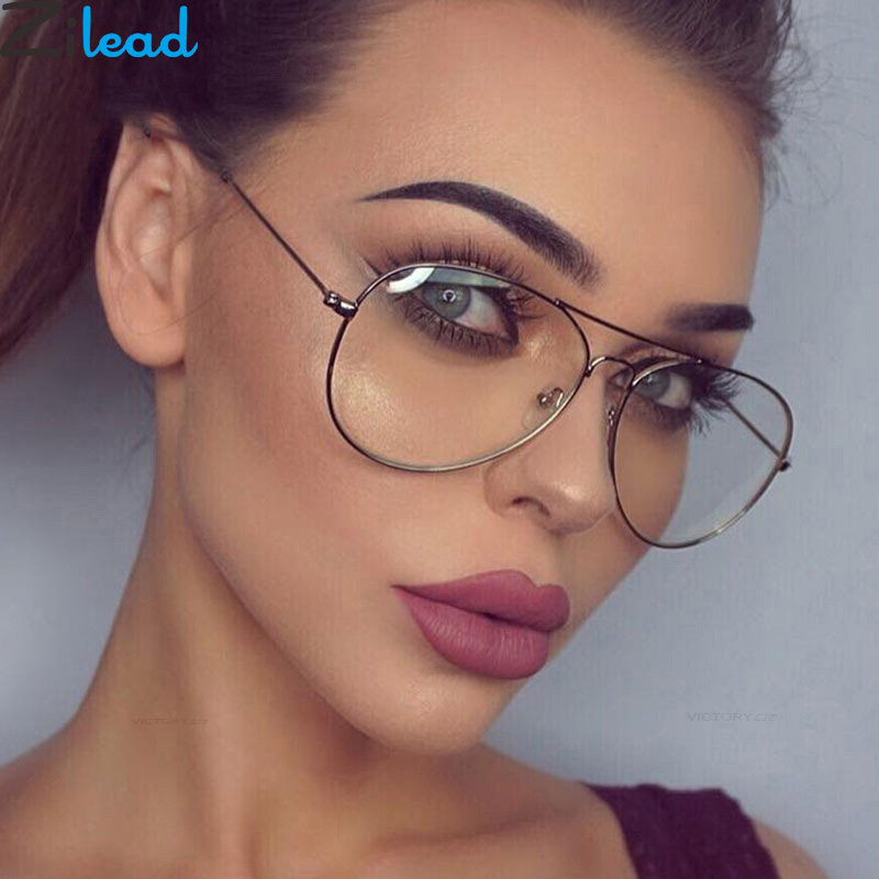 Zilead Classcial Metal Finished Myopia Glasses For Women&Men Pilot Nearsighted Glasses Driving Shortsighted -1.0to-4.0 Unisex