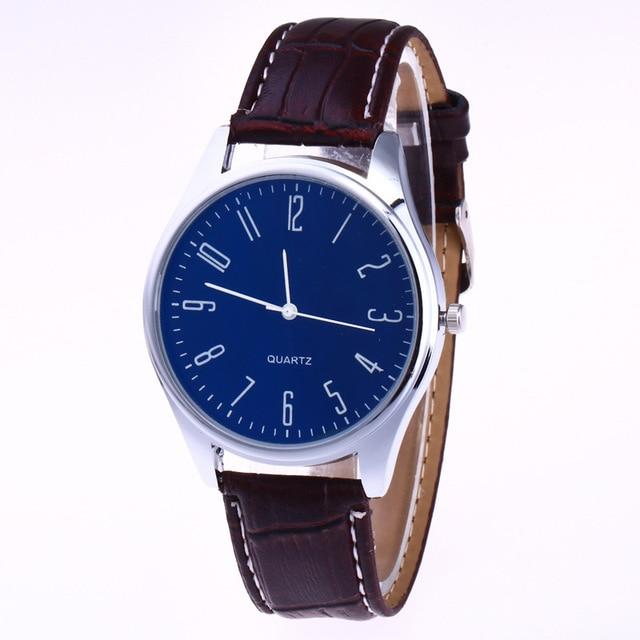 Casual Leather Waterproof Quartz Wristwatches Man Clock 1