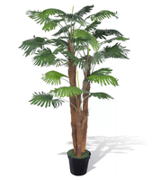 VidaXL Palmier Artificiel 180 Cm Plastic Plant And 1 Pot With 30 Green Leaves Never Wither Home Decoration Home Accessories