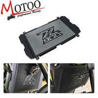 Acessórios da motocicleta grade de radiador guarda capa proteção aço inoxidável protetor para kawasaki z900 z 900 2017 2018 2019