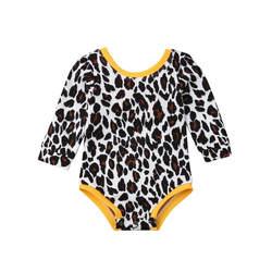2019 модное боди с бантом для маленьких девочек, комбинезон с леопардовым принтом и длинными рукавами, одежда из хлопка