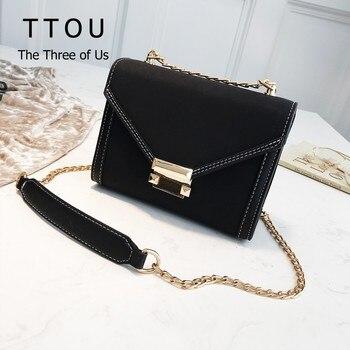 022d511b5 TTOU Женские Простые замшевые сумки через плечо маленькая сумка из ...