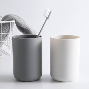 Brush Cup Bathroom-Accessories Plastic Mouth-Cup Beverage Household