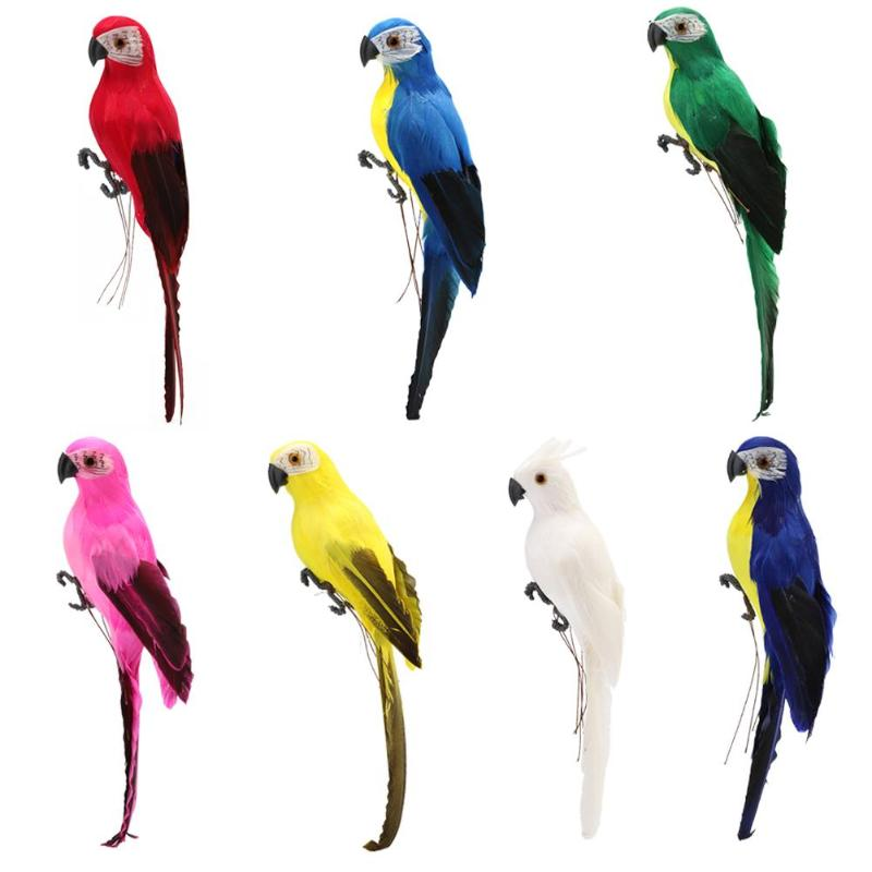 Home Decoration Artificial Parrot Cute Bird Designer Home Decor Weeding Gift Party Garden Yard Tree Decorations