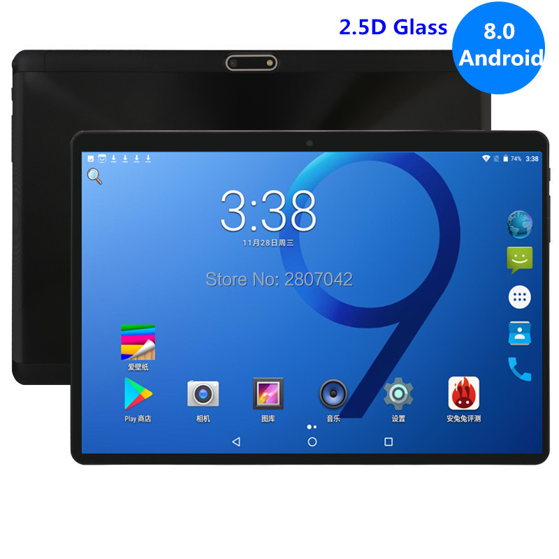 10 Inch Tablet 4GB RAM 64GB ROM Octa Core 1280X800 2.5D IPS Screen Dual SIM Cards 3G 4G FDD LTE Android 8.0 Google Tablet 10