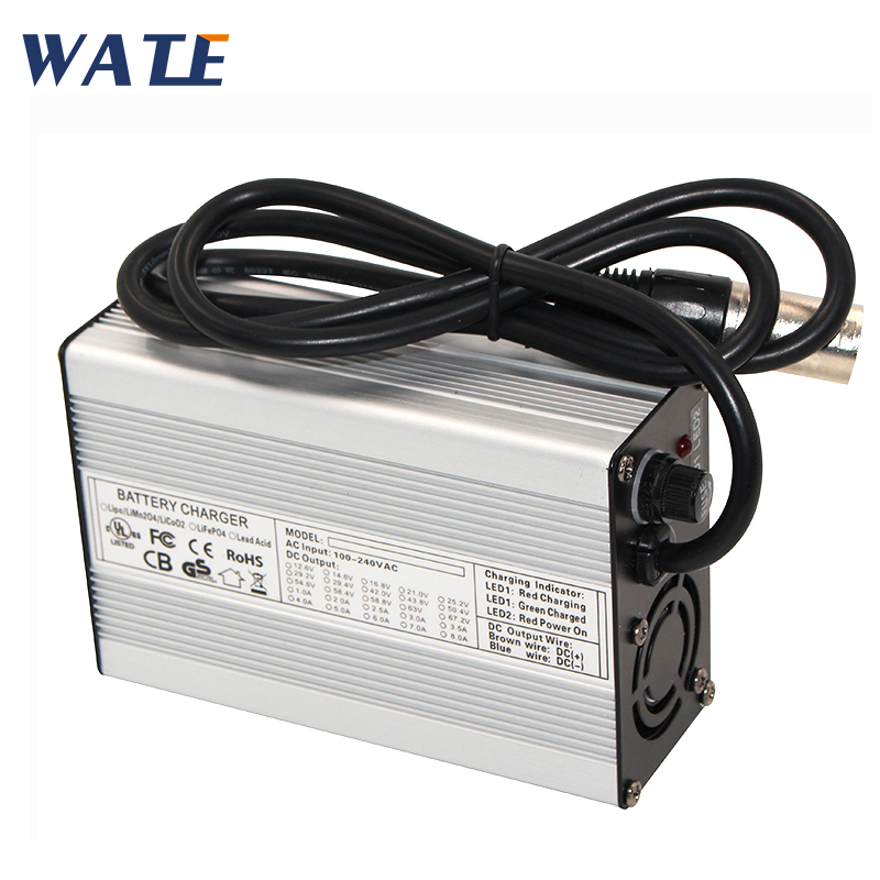 29.4V 5A Charger 7S 24V li-ion battery Charger Output DC 29.4V With cooling fan Free Shipping