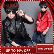2016 New Boys Faux Leather Jackets European and American Style Children Fashion Coats Girls Outerwear Spring & Autumn,