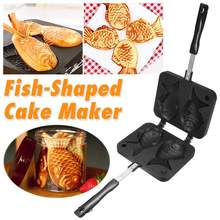 Pan-Maker Waffle Taiyaki Fish-Shaped Japanese 2-Molds Bakeware Cake-Baking-Tools Non-Stick
