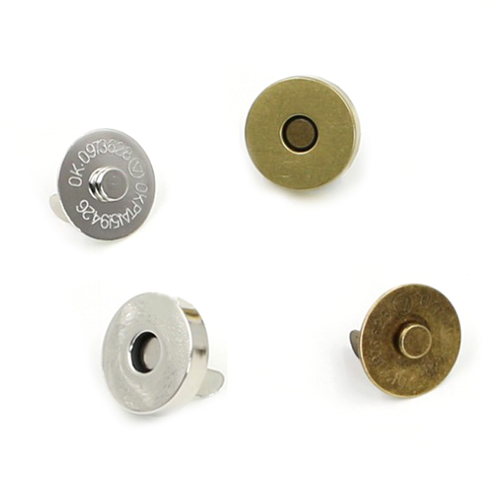 5Pcs Magnetic Clasp Purse Snaps Closures 14/18 Mm Round Sewing Button Bag Press Stud For Bags Gold Silver Metal Bag Accessories