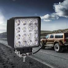 New Style Car LED Work Light 16LED 6000-6500K Square 48W Engineering Inspection Offroad Roof Condensed Light Driving Lamp(China)