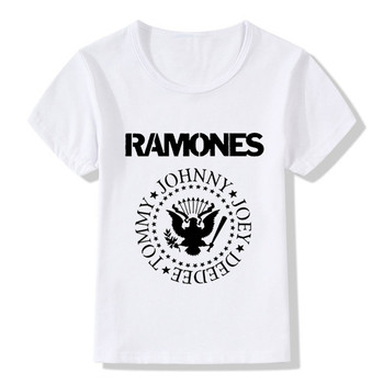 2018 Children Ramones Logo Print Cool T-Shirts Kids Summer Tops Boys/Girls Short Sleeve Clothes Casual Hipster Baby Tees,HKP2194