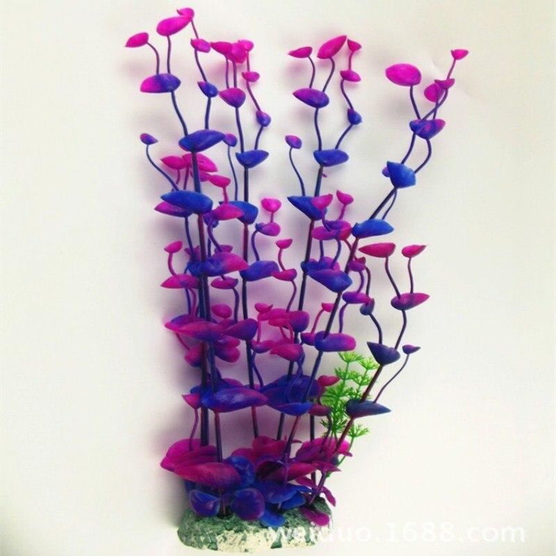 1 pc 33 cm Aquarium Aquarium plantes Aquarium décoration plantes Simulation plastique fleurs Aquarium aménagement paysager décorations