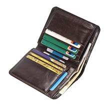 Мужской короткий кошелек из натуральной кожи с тремя отделениями для кредитных карт, мужской клатч, кошельки, винтажный кожаный кошелек, сумочка для денег