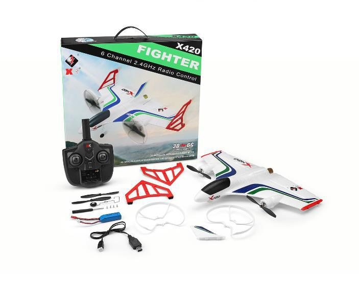 Image 4 - XK X420 2.4G 6CH 420mm 3D6G VTOL Vertical Take off And Landing EPP 3D Aerobatic FPV RC Airplane RTF Remove Control Toys-in RC Airplanes from Toys & Hobbies