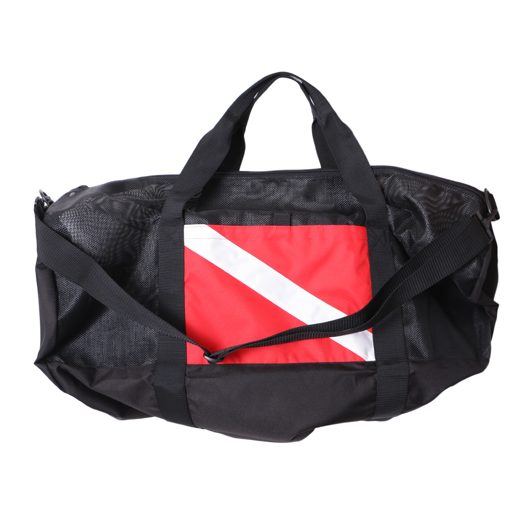 Nylon Dive Flag Mesh Gear Bag Zipper Holdall For Scuba Diving Swimming Beach Sports Camping Travel