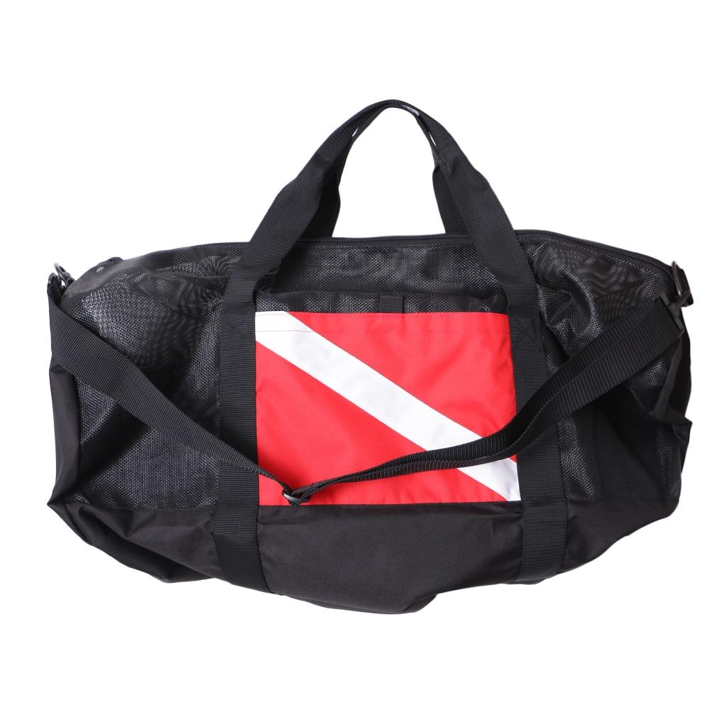 Nylon Dive Flag Mesh Gear Bag Zipper Holdall For Scuba Diving Swimming Beach Sports Camping Travel