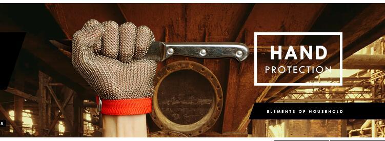Кольчужные перчатки среднего размера S/стальной нейлоновый ремешок металлические перчатки для пальцев - 4