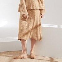 2018 Autumn Winter New arrival knitting Skirts long Sweater Skirts Wool blends Knitting Skirts Woman for winter 8221