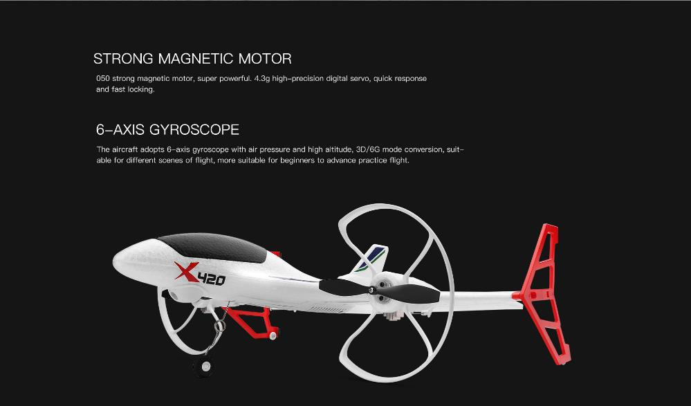 Image 5 - XK X420 2.4G 6CH 420mm 3D6G VTOL Vertical Take off And Landing EPP 3D Aerobatic FPV RC Airplane RTF Remove Control Toys-in RC Airplanes from Toys & Hobbies