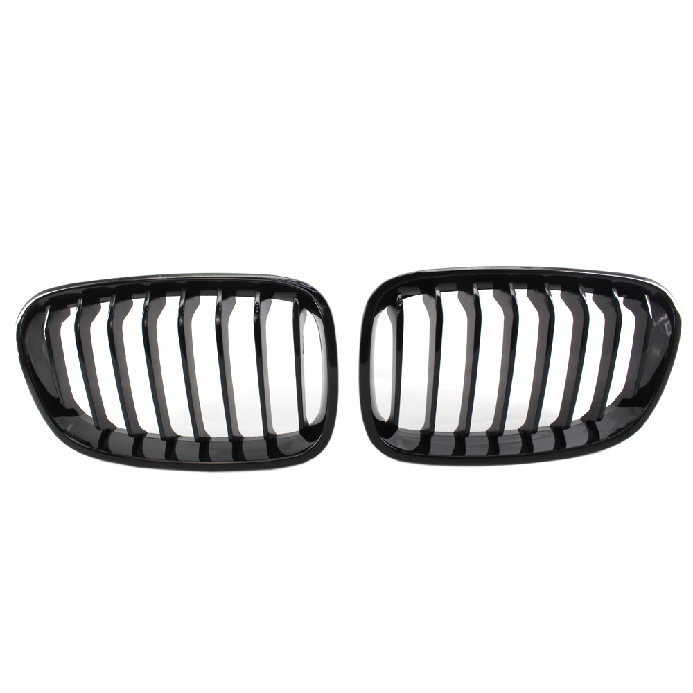 Bright Black Front Kidney Grill Grille For Bmw F20 F21 1 Series 2011-2014