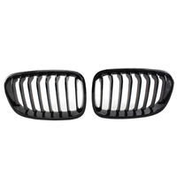 Bright Black Front Kidney Grill Grille For Bmw F20 F21 1 Series 2011 2014