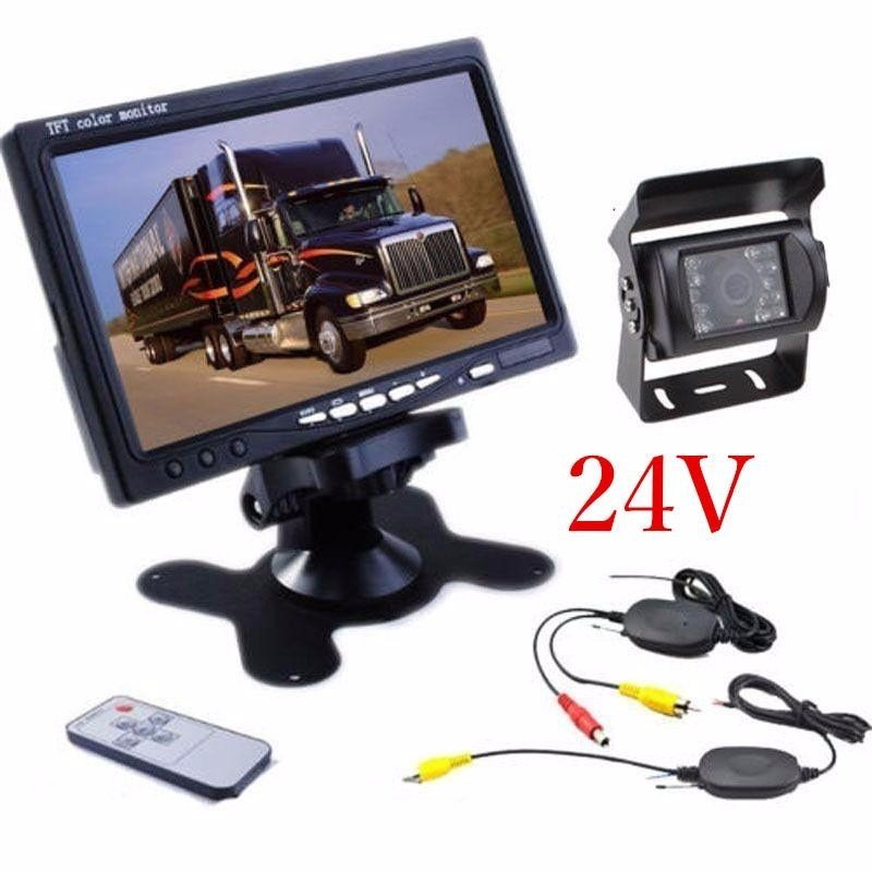OHANEE 24V Car Rear View Wireless Backup Camera Kit+7