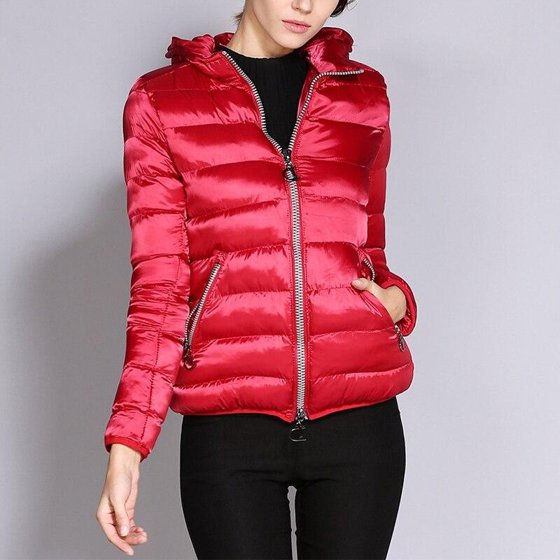 Wipalo 2018 Fashion Women'S Lightweight Hooded Short Winter Parka Zipper Up Warm Outwear Parka Coat Plus Size Ladies Jacket Coat