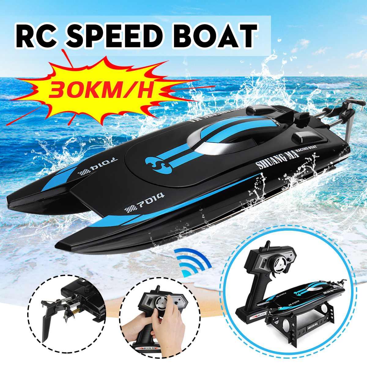 30 km/h bateau RC 2.4 GHz course bateau télécommandé batterie Li-ion 4 canaux 51 cm bateau rapide à distance pour cadeau enfant