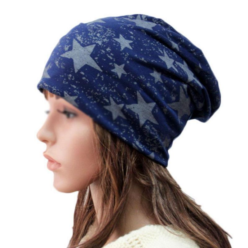 LUVCLS Autumn Winter Women Hat Stars Design Ladies Thin Hat   Skullies     Beanies   Men Hat Unisex Clothing Accessories Sombrero Mujer