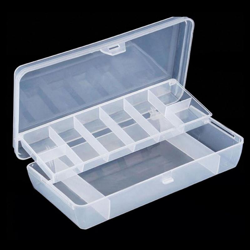 For Hand Tool Plastic Storage Organize Case Tray Compartments Fishing Lure Tackle Box Two-Sided Storage Cases