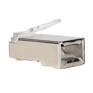 Image 4 - Xintylink ethernet cabo conector rj45 plugue macho rede lan cat5e 8p8c jack rg rj 45 stp blindado rg45 cat 5 cat5 50 peças 100