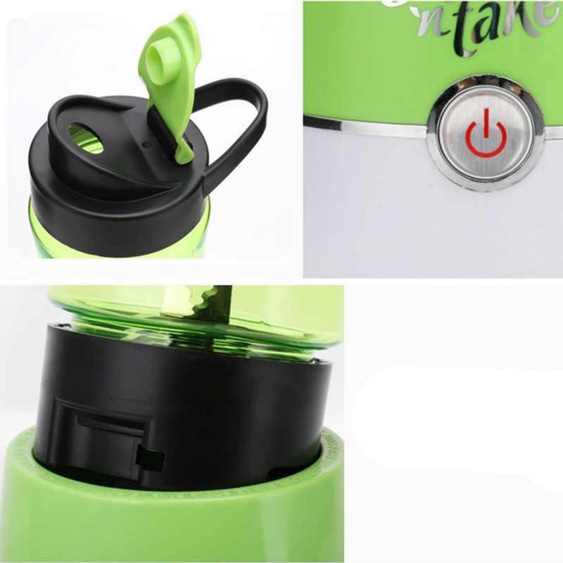 1-Botão de Operação Espremedor Liquidificador Smoothie Blender Frasco Bebendo 500 Ml 4 Lâminas de Aço Inoxidável