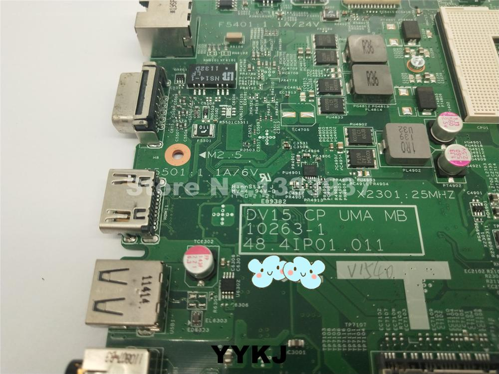 A DV15 UMA 10263-1 RMRWP HM57 Motherboard Mainboard for Dell N5040 1540 Laptop