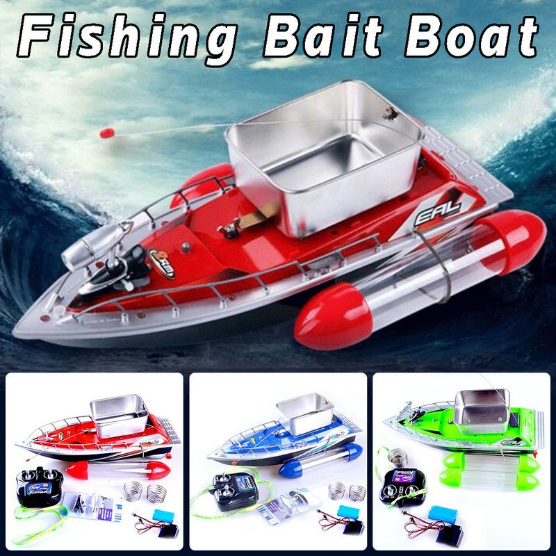Electric RC Fishing Bait Boat Lure Carp Carrier 300M Remote Control LED Light 5200 MAh Battery