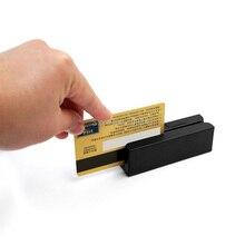 USB 3 Parça Manyetik Şerit kart okuyucu Mini Finansal Ekipman HICO LOCO Manyetik kart okuyucu Windows IŞLETIM SISTEMI için