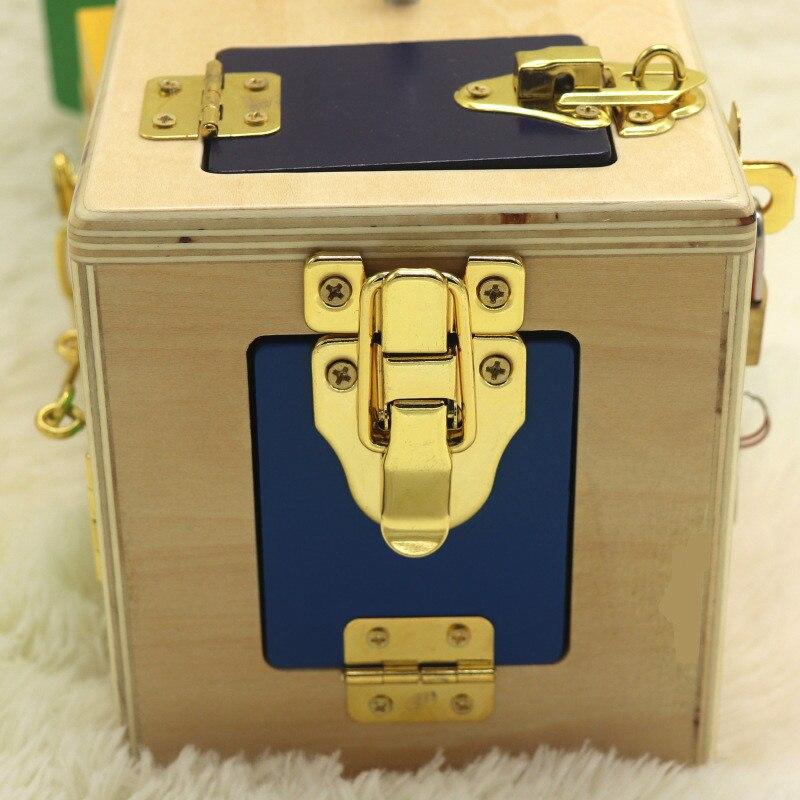 Montessori jouets 3 ans serrure boîte Montessori matériaux sensoriels éducatifs en bois jouets pour enfants Montessori bébé jouets UE1066 - 6