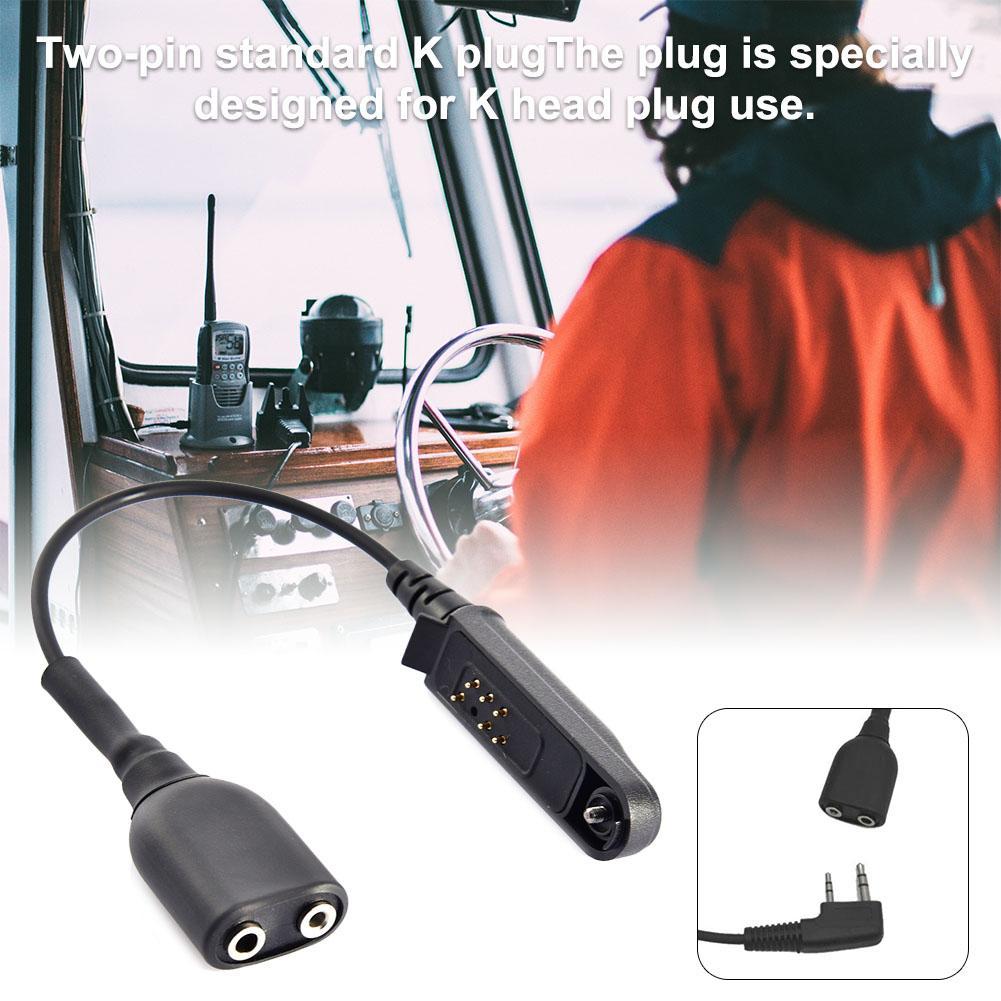 """Иди и болтай Walkie Talkie """"иди и аудио кабель-адаптер для Baofeng BF-9700 A-58 UV-XR UV-5S GT-3WP UV-9R плюс для K Интерфейс 2Pin UV-5R гарнитура Порты и разъёмы"""