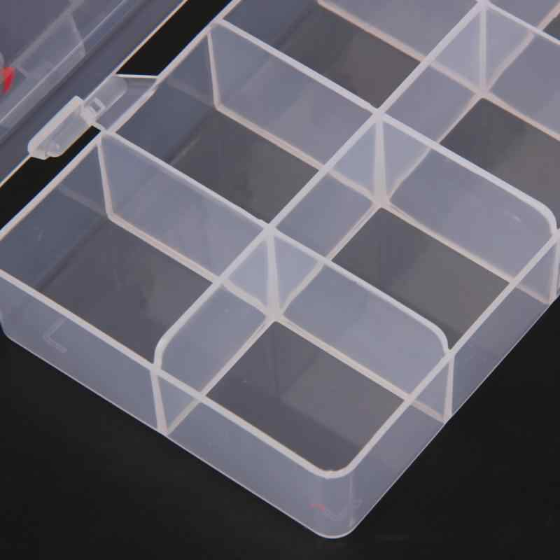 10 เซลล์เก็บกล่องคอนเทนเนอร์คอนเทนเนอร์สำหรับเคล็ดลับเท็จ Glitter Rhinestone เครื่องมือเล็บพลาสติกที่ว่างเปล่ากล่องเครื่องมือทำเล็บมือ