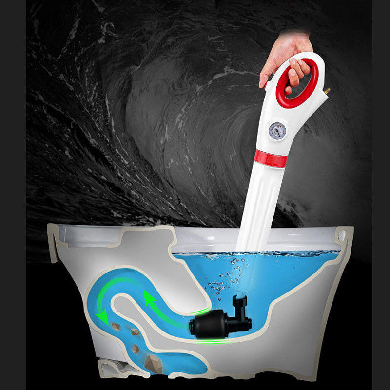 Toilet pipe floor drains sewer kitchen sink blocked pneumatic dredge tools Toilet Plunger High Pressure Air
