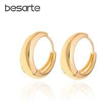 Прямая поставка золотые серьги маленькие кольца для женщин ювелирные