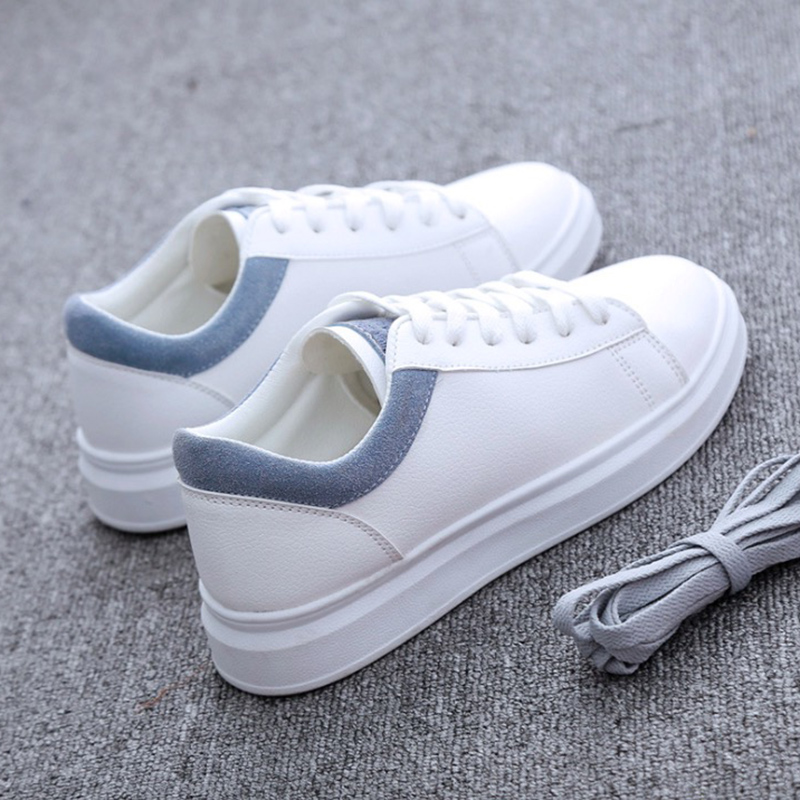 Women Casual Shoes 2018 Autumn Women Sneakers Fashion Breathable PU Leather Platform White Women Shoes Soft Footwears