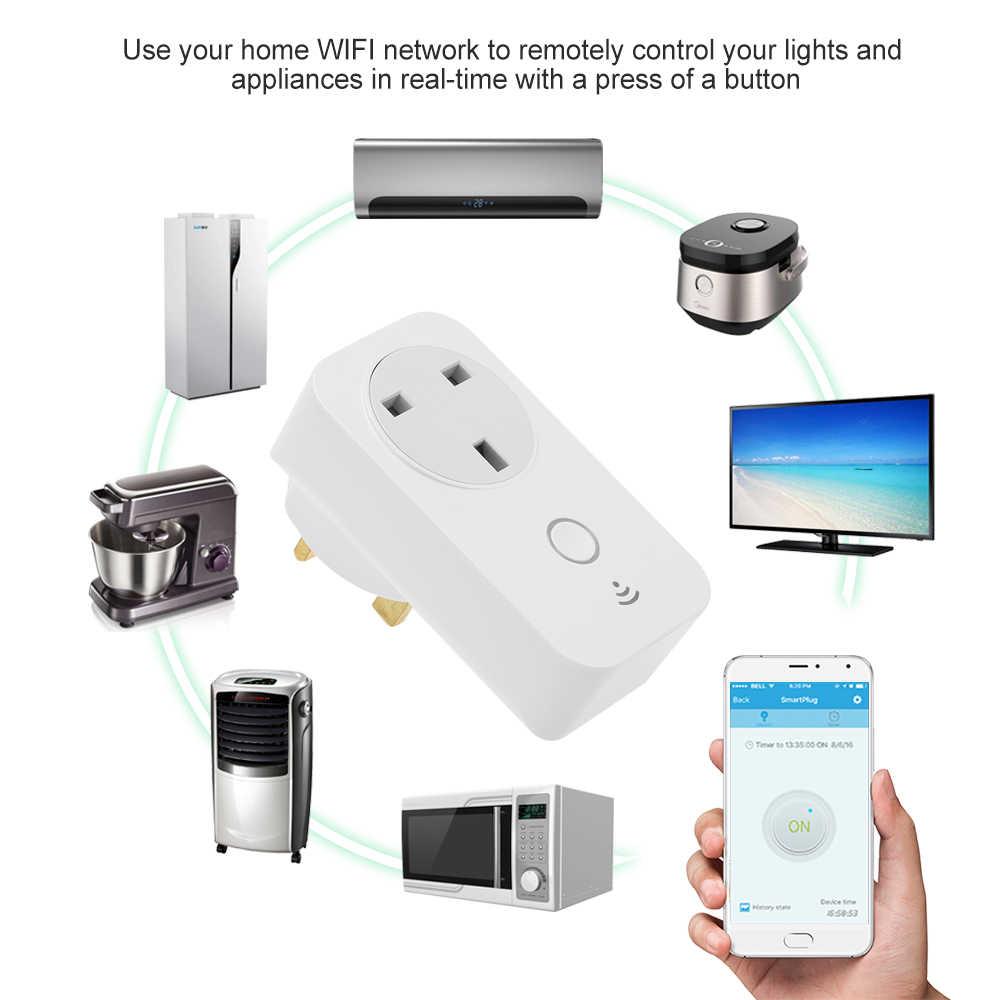 SP3-EU/SP2-UK inteligentne gniazdo WiFi gniazdka zasilania inteligentny telefon bezprzewodowe kontrolki aplikacji z dowolnego miejsca funkcja pomiaru czasu, sterowanie głosem