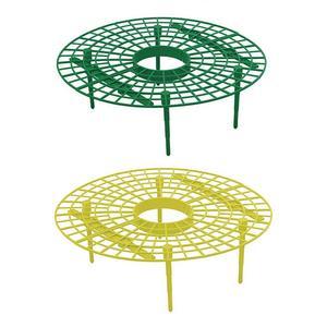 Image 2 - 10pcs צמח פלסטיק כלי תות גדל מעגל תמיכה מתלה חקלאות לשפר קציר מסגרת קל משקל נשלף קל להתקין