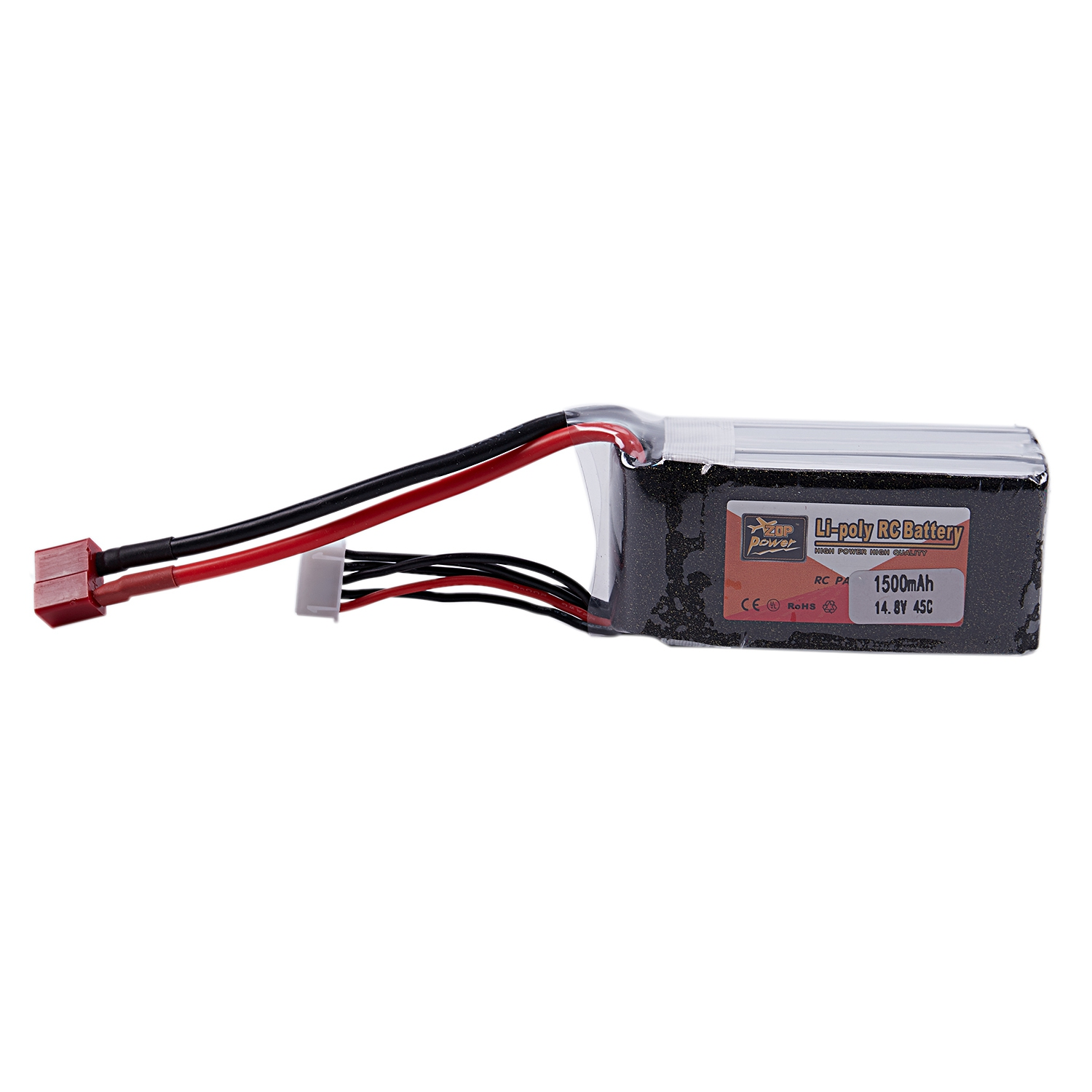 ZOP POWER 14.8V 1500Mah 45C 4S 1P Lipo Battery Xt60 Plug Rechargeable For Rc Racing Drone Quadcopter Helicopter Car Boat