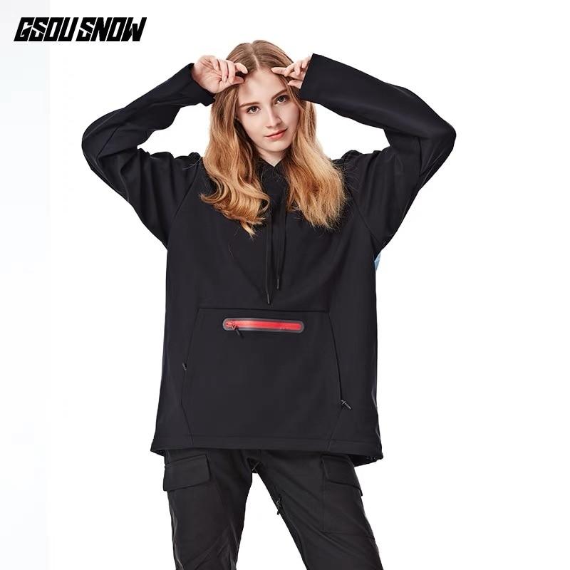 GSOU neige femme veste nouveaux manteaux respirants coton femmes vestes Ski anti-boulochage imperméable Snowboard mode Ski coupe-vent