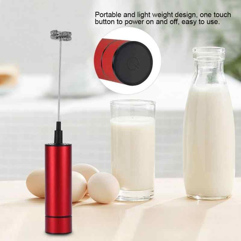 O Aço inoxidável Batedor de Ovos Batedor de Leite Elétrica Café Bebidas Liquidificador Mão Misturador Da Cozinha Nova
