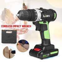 Cordless Electric Impact Wrench Kit 25V 3.0Ah Drill 3/8'' Screwdriver 2 Battery Li Battery Hand Drill Installation Power Tools